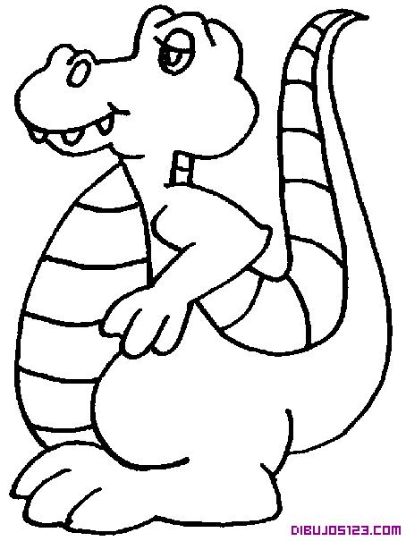 Simpático cocodrilo para colorear