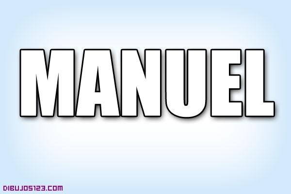Nombre Manuel para colorear
