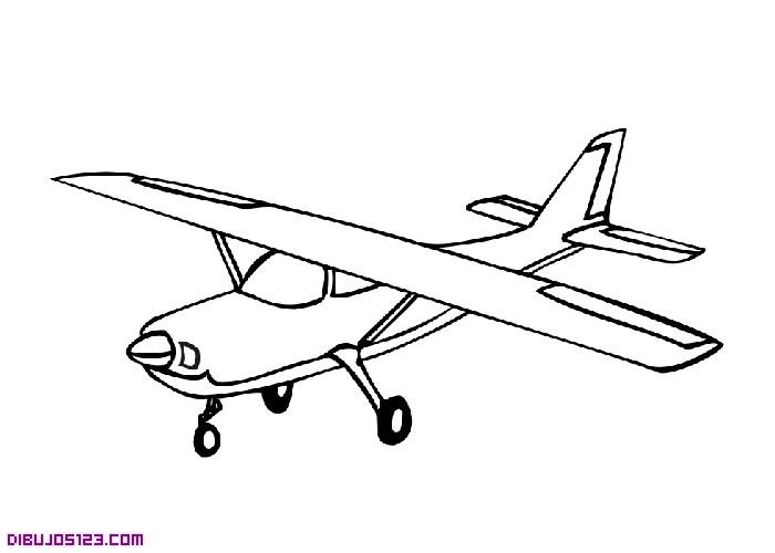 Dibujo Para Pintar De Una Pequea Avioneta