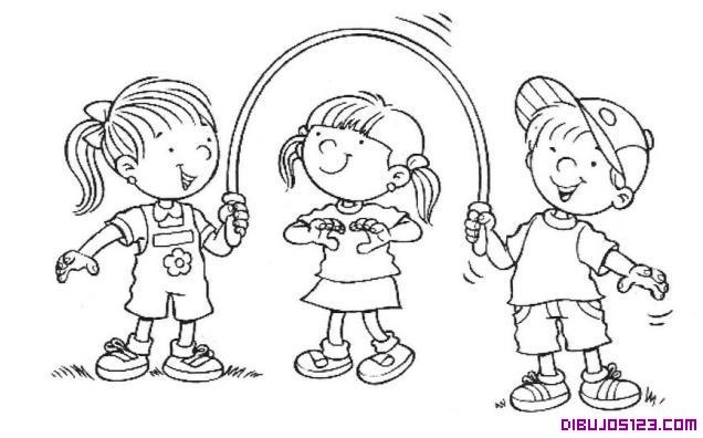 Dibujos de amigos jugando - Imagui