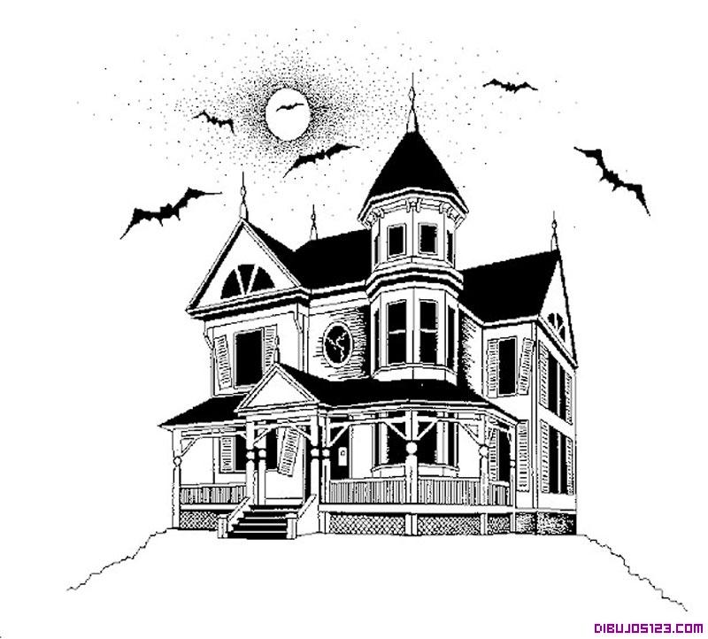 Bonita casa para colorear y recortar