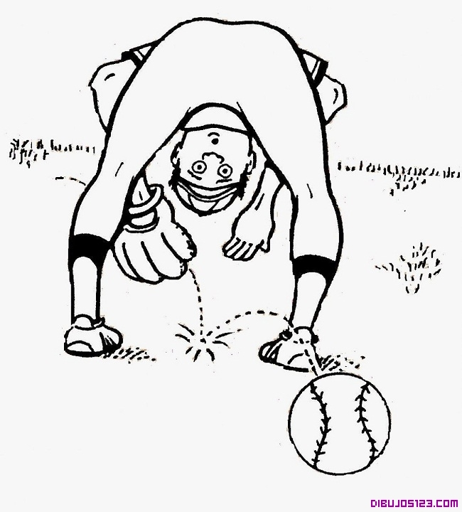 Jugador de beisbol en pleno partido