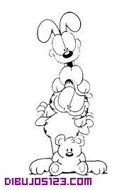 Odie y Garfield