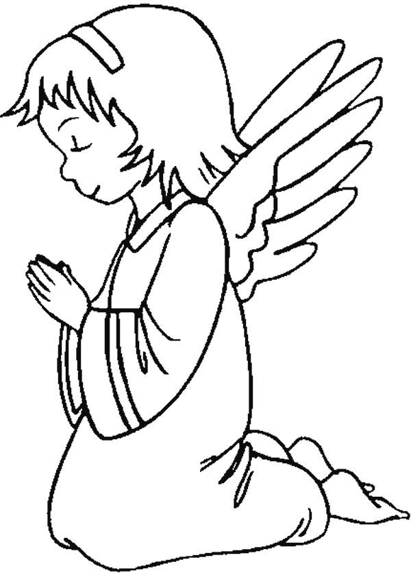 �ngel rezando