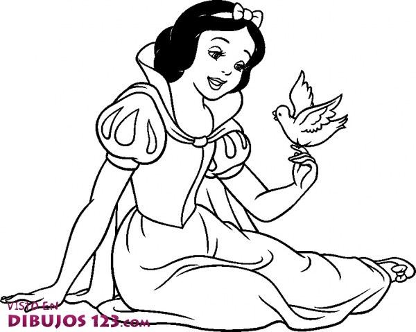 Blancanieves habla con el pajarillo
