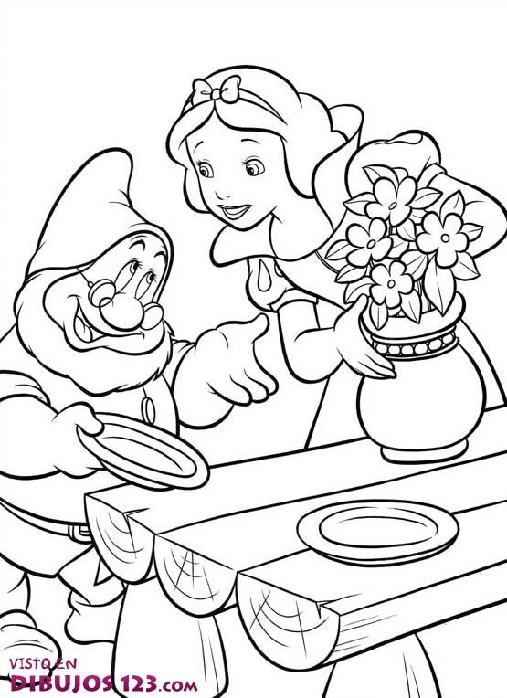 Blancanieves y sabio ponen la mesa