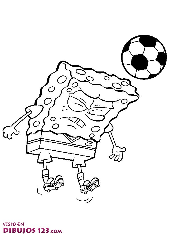 Esponja jugando al ftbol