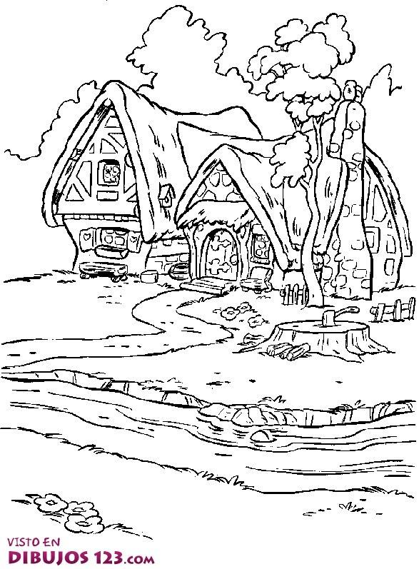 Dos casas en el bosque