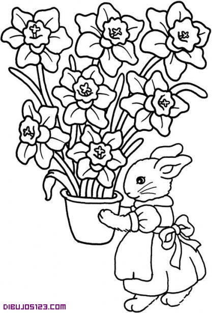 Conejita con flores