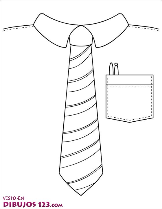 Corbata para colorera