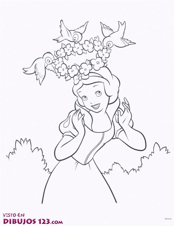 Una corona de flores para Blancanieves
