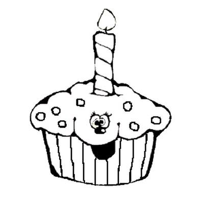 Cupcake Con Vela