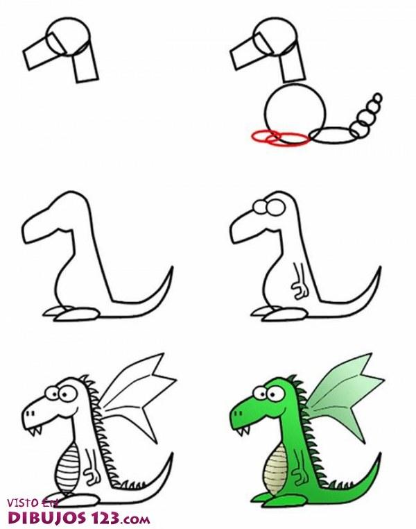 Cómo dibujar un dragón