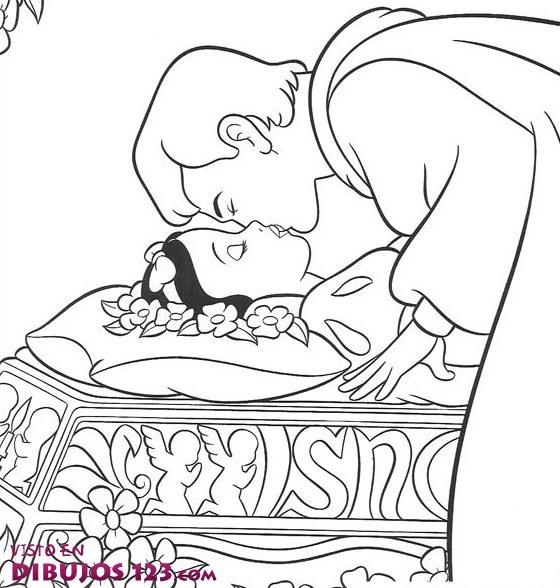 Beso de Blancanieves y el príncipe