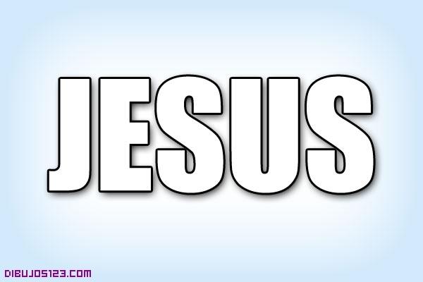 El nombre de Jesús para colorear