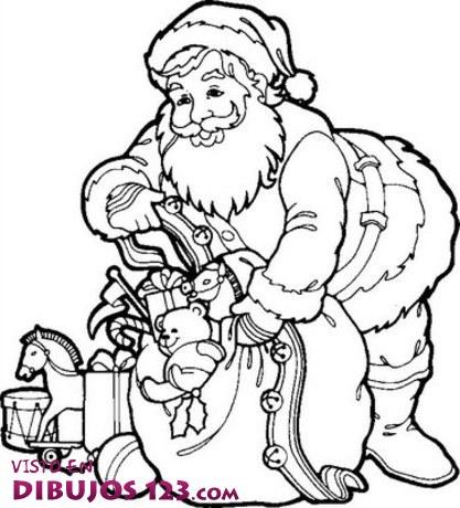 Papa Noel dejando los regalos
