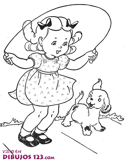 kids jumping rope coloring pages - photo#13
