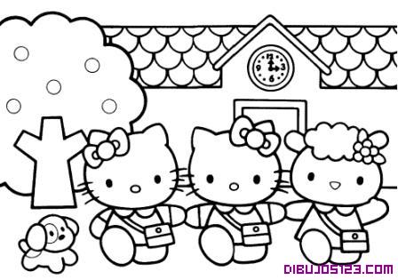 Dibujo de Hello Kitty y sus amigas