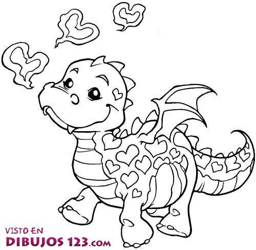 Dragón con corazones
