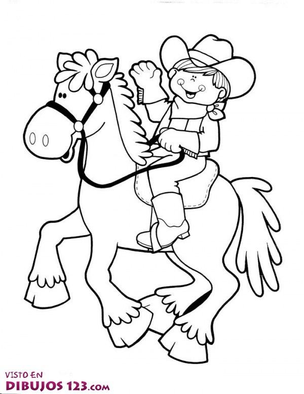 El Jinete Sonriente Cowboys Coloring Pages To Print Printable