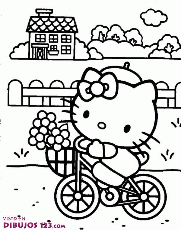 Hell Kitty en bici