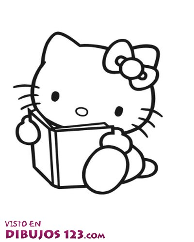 Hello Kitty leyendo