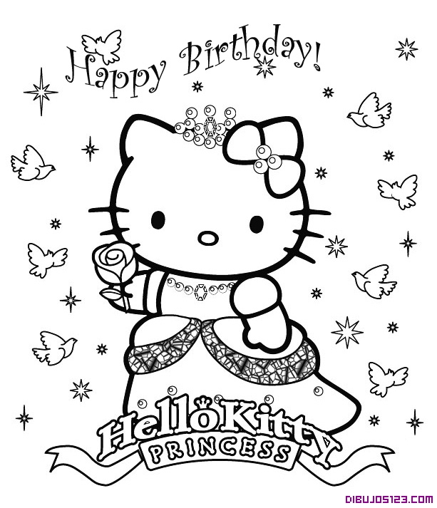 Hello Kitty De Princesa Y Cumpleanos
