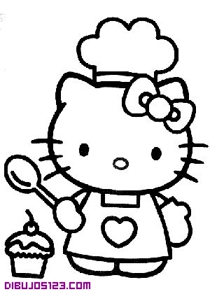 Hello Kitty cocinera