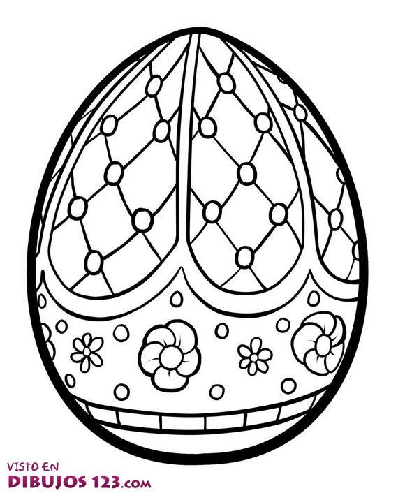 Huevo de Pascua para colorear