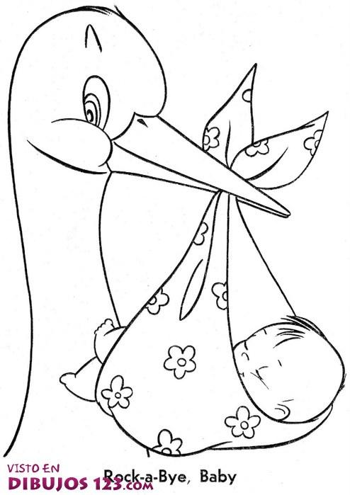 La cigüeña y el bebé