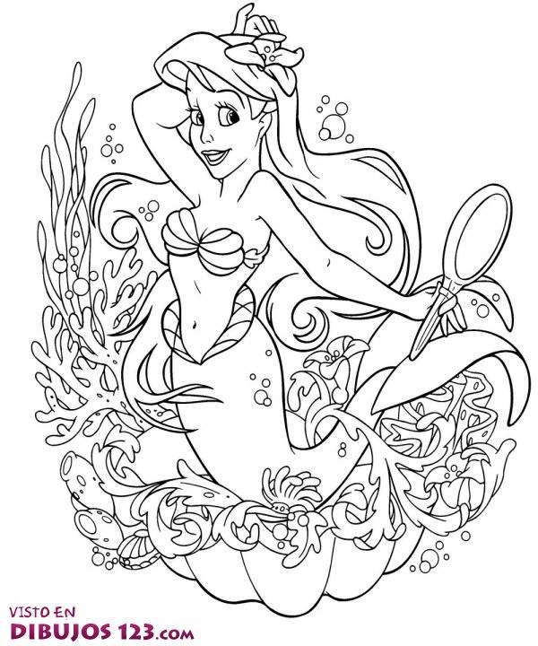 Precioso retrato de la Sirenita