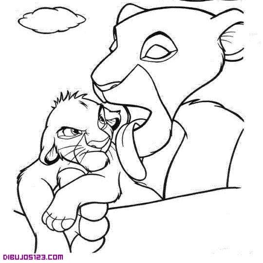 Simba y su madre