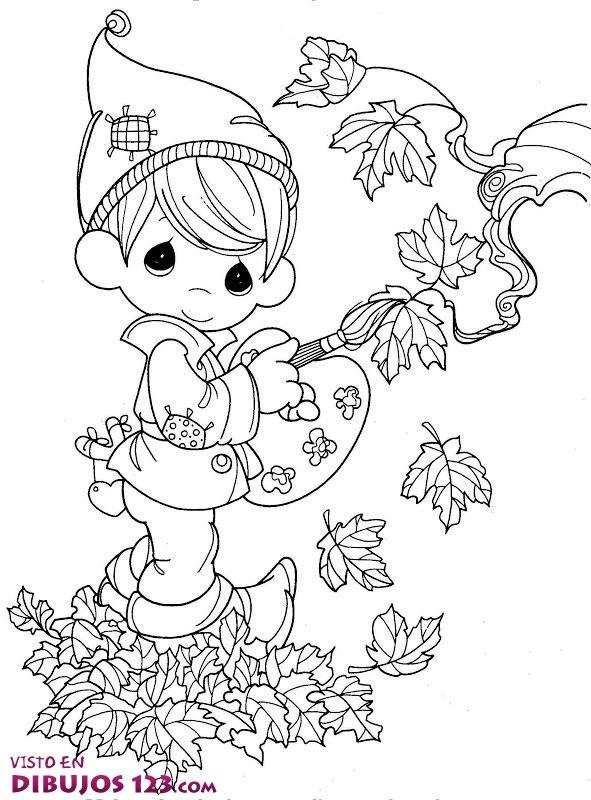 Pintando las hojas del otoño
