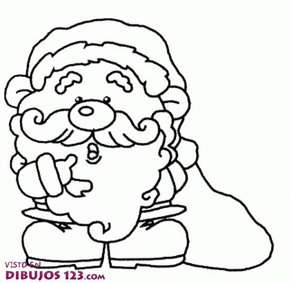 Papa Noel para colorear