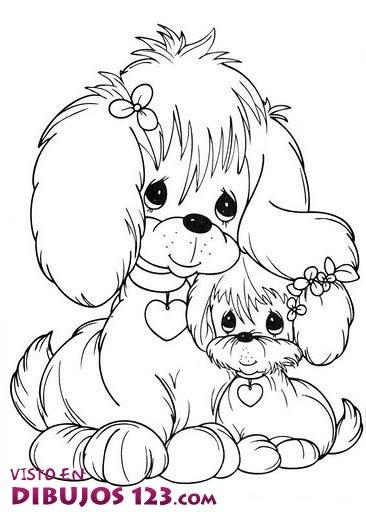 Perrita y cachorro