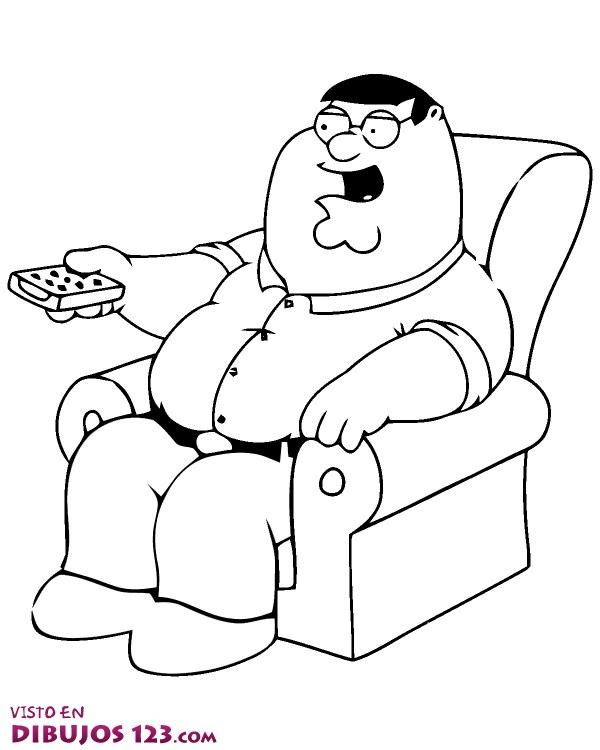 Peter Griffin viendo la tele