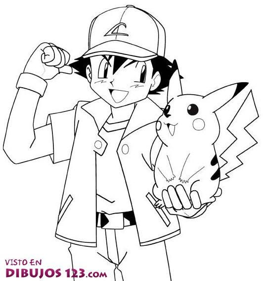 Protagonistas Ash y Picachu