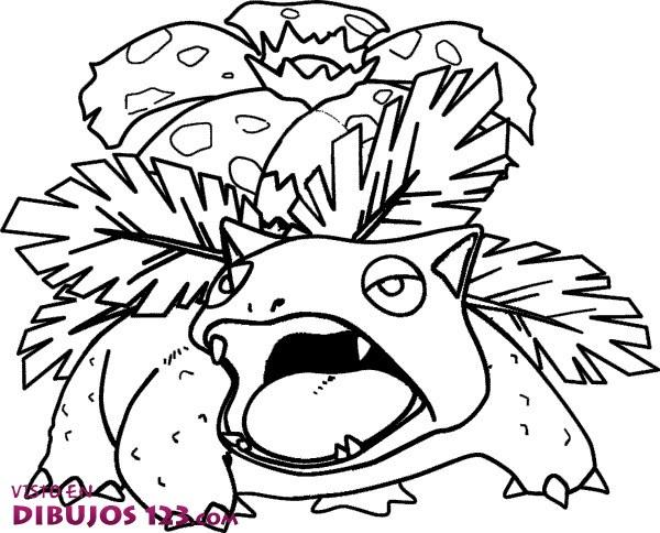 Dibujos Para Colorear De Pokemon: Venusaur Para Colorear