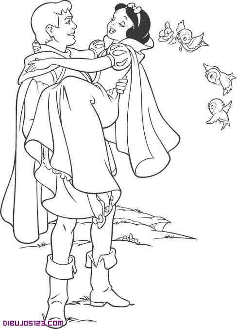 Blancanieves en brazos del Pirncipe