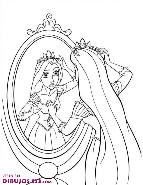 Rapunzel y su corona