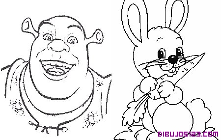 El simpatico Sherk y un conejo
