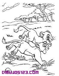 Simba y nala en la selva