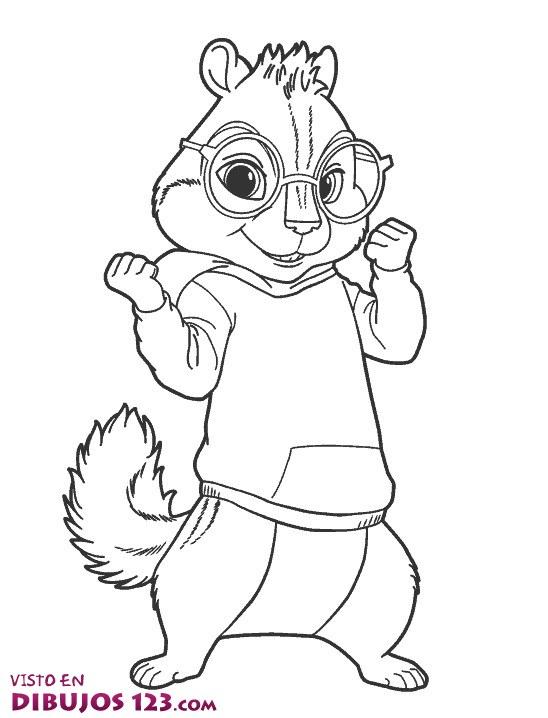 Dibujos de Alvin y las Ardillas