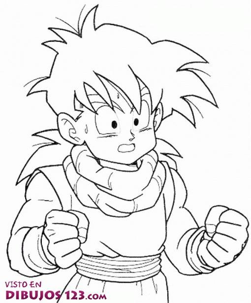 Son Goku cabreado