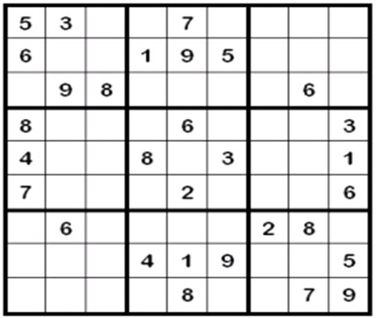 Sudoku de números