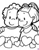 Amigas bebés y corazones