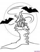 Casa de vampiros en una colina