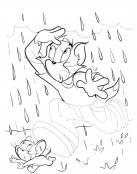 Completa y colorea el dibujo de Tom y Jerry