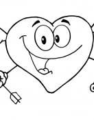 Corazón disparando flechas de amor