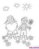 Dibujo de amor infantil